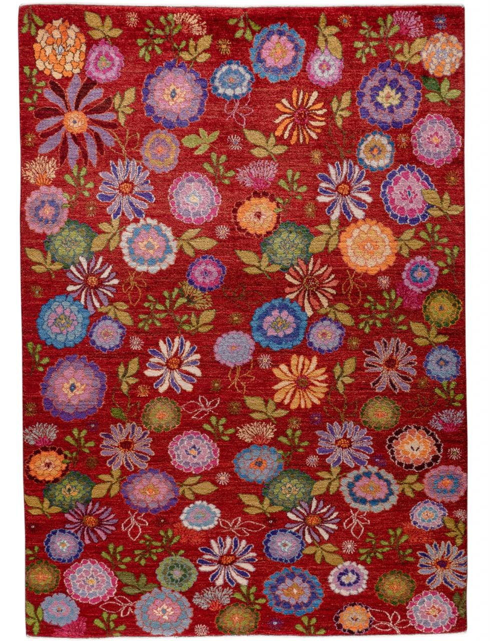 Iran Gabbeh Teppich-Unikat Blumenwunder