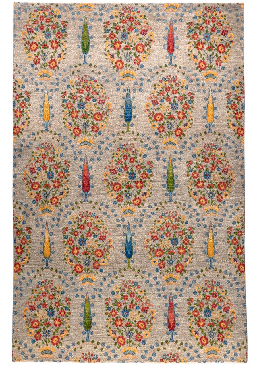 Iran Gabbeh Teppich-Unikat Palastblumen